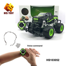 Toys for kis 2018 1:18 scale toys car 2.4 Ghz Smart Watch Voice record Voice Contro with light RC Truck