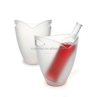 Wholesale red acrylic plastic wine ice buckets
