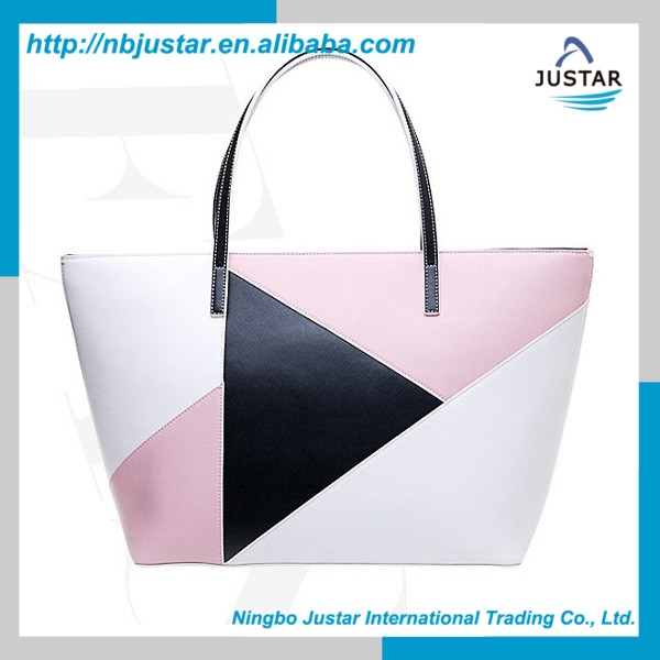 Hot New Arrivals High Quality Stitching Trendy PU Leather Women's Tote Bags