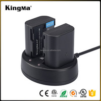 KingMa Portable DMW-BLF19E Battery Charger Kit for Panasonic Lumix DMC-GH3 Camera One Dual USB Charger Two Li-ion mAh Battery