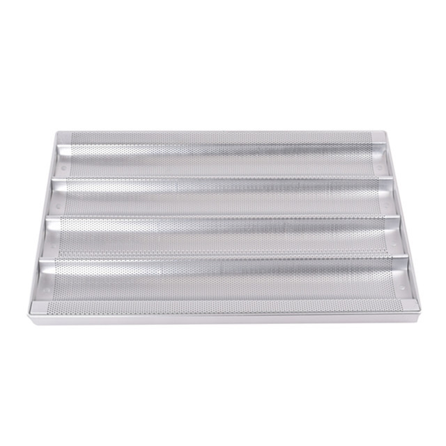 Full Sheet 600x400mm 5 Row French Bread Baking Tray