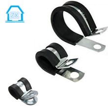 P Type Rubber Lined Hose Clips