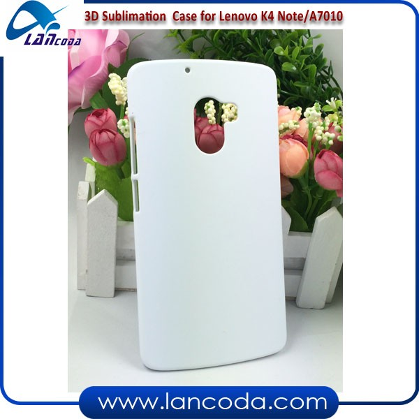 3d vacuum heat press machine printing mobile phone cover 3D sublimation white blank cases for Lenovo K4 Note A7010