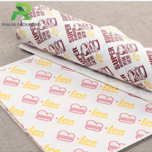 FDA Approved Food Grade Burger Wrapping Wax Paper