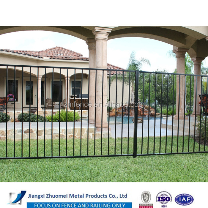 Cheap widely used residential & swimming pool iron fence prices