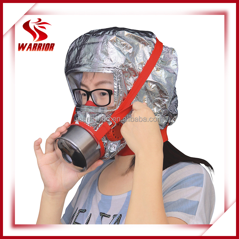 CE approved fire escape smoke hood gas mask