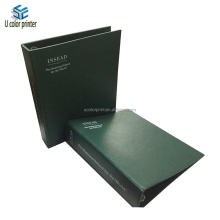 dongguan manufacturer custom logo green binder and divider pages