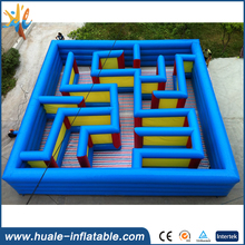 Sport game haunted inflatable laser tag maze