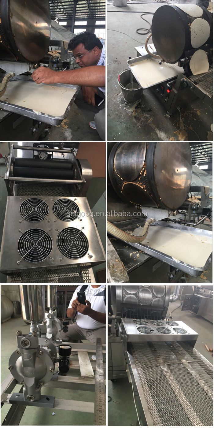 Industrial Professional Popiah Skin Wholesale Automatic Injera Machine