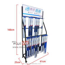 free standing motorcycle windshield wiper display racks and stands