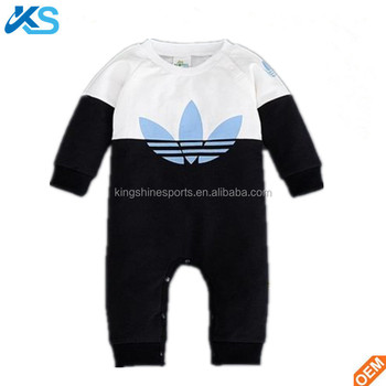 High quality 100% cotton baby climbing clothes long sleeve printed babys romper