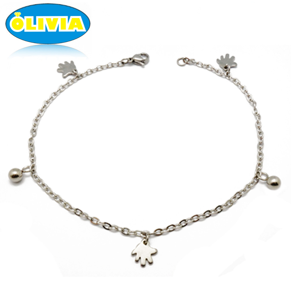 Olivia Jewelry Summer Jewelry Hand Shape Yoga Anklet Indian Jewelry Anklet