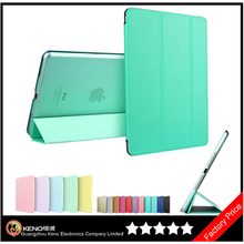 Keno Transparent Back Ultra Slim Light Weight Auto Wake Up/Sleep Smart Cover Tri-fold Protective PU Leather Case for iPad Mini 2