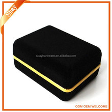Black velvet custom made cufflink box/jewelry box/tie and cufflink box