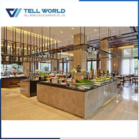 Professional manufacture of solid surface material buffet counter for hotel restaurant