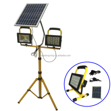 very bright 2016 10w portable rechargeable led flood light in tripod stand for construction site