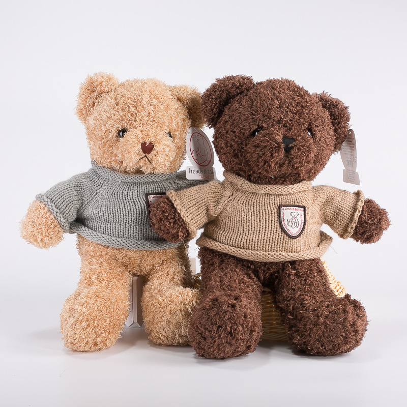 Factory make plush teddy bear plush toys Bear pillow doll wedding gifts for couple