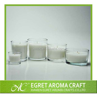 Glass candle holder Private label wax candle in glass jar fragrance scented candle Jars