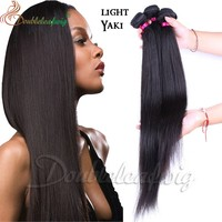 No-remy hair extension straight 20 inch virgin brazilian hair weft top quality.human hair weft silk straight
