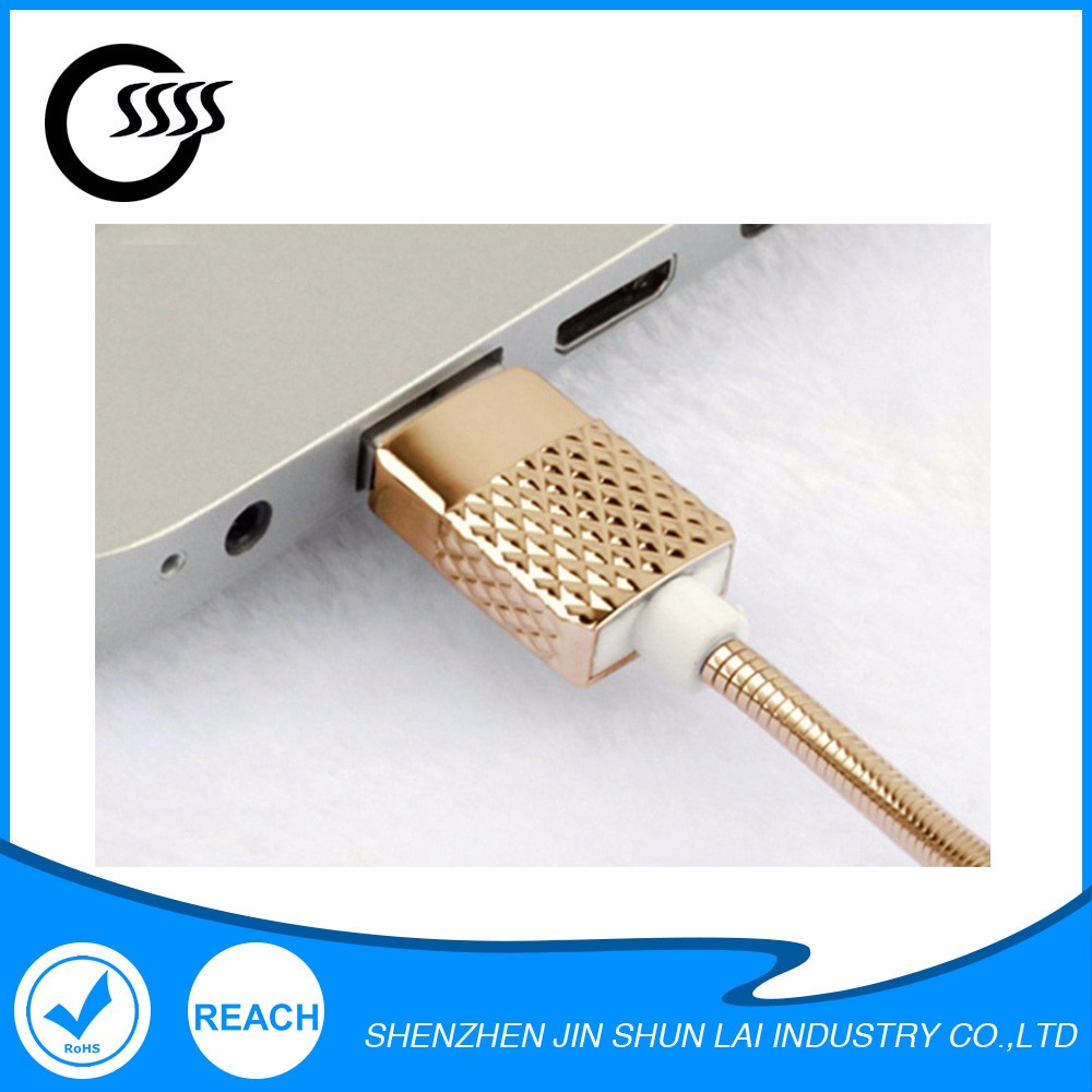 NEW Multifunctional zinc alloy micro usb charger cable for iphone 6