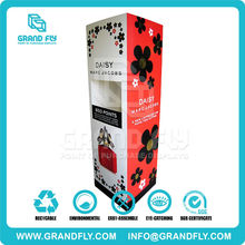 Free standing promotion 3 sides cardboard Display for cosmetic