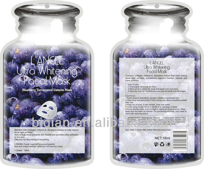 Pure Fruit Facial Mask For Whitening,Nourishing,Moisturizer,Firming,ODM/OEM Facial Mask