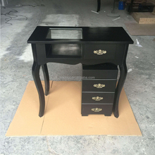 Mini black painting beauty salon manicure table/salon furniture for sale