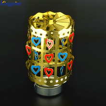 Printing rotary windmill metal lantern decorating tea light candle holders
