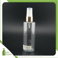 125ml plastic bottle toner bottle with aluminium spray