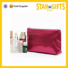 China Wholesale Fashion Plain Red Satin Cosmetic bags