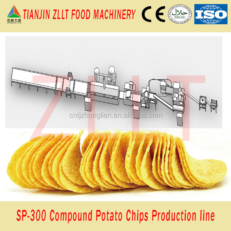 Multi- flavor compound potato chips production line from China