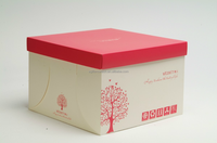 2015 Fashion design customized square paper gift box decorative cake boxes birthday cake boxes wholesale