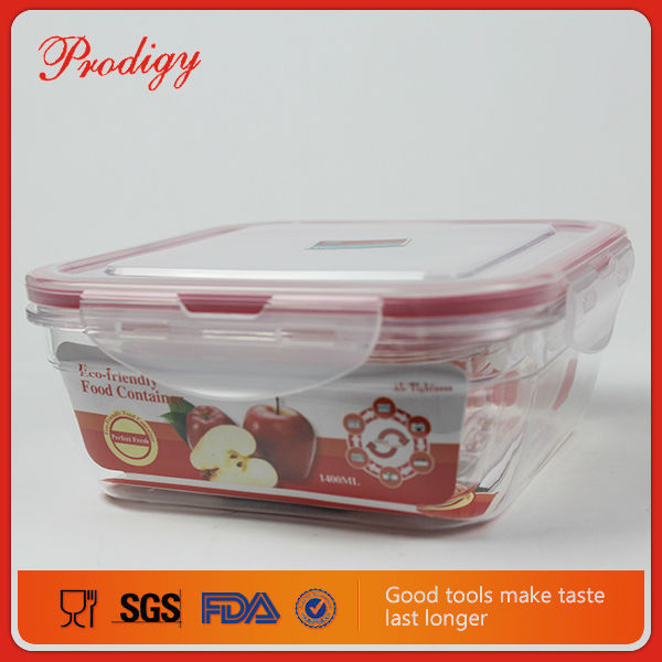 Plastic Casserole Microwave Food Container With Compartment
