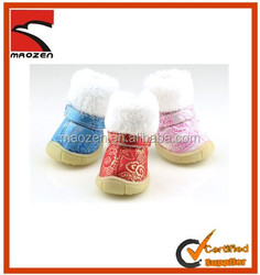 2014High Quality Chinese Style Cotton Padded Shoes Fashion Warm Dog Shoes