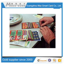 Best supplier scratch card win card lottery ticket card making cheap pricing