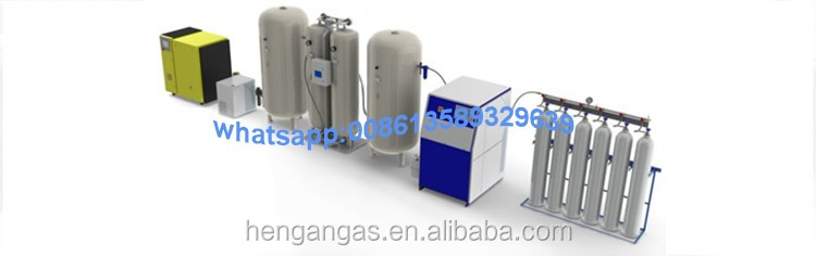 Argon / oxygen / nitrogen gas filling station