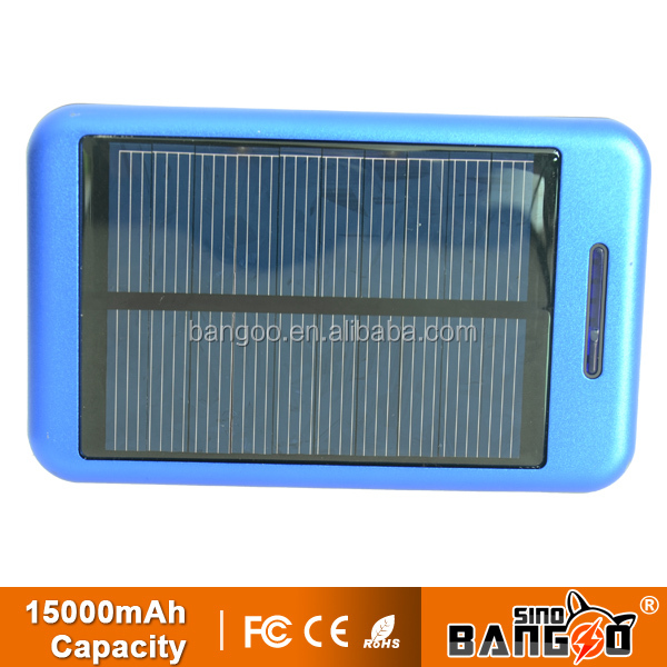 2015 New coming solar power bank 15000mah for factory price