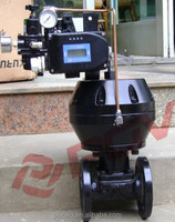 Polyamide PA Pneumatic Rubber Lined Diaphragm Valve with Positioner