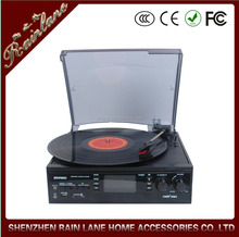 Classic Stereo casstte tape player function turntable record player vinyl