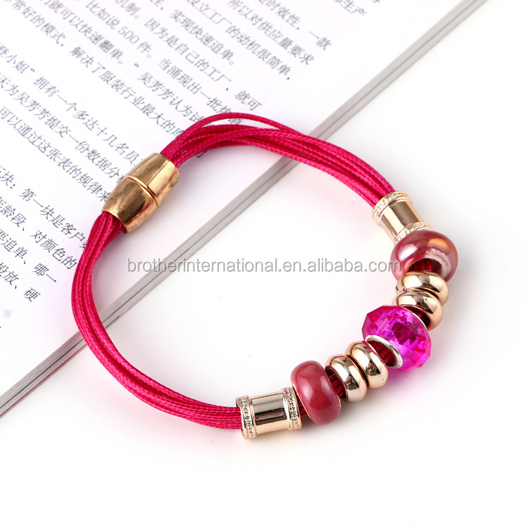2016 fashion bracelet jewelry glass bead bracelet for women make beaded fashion bracelet