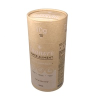 Custom Cylindrical Packaging Carton Round Cardboard Food Grade Kraft Paper Tea Paper Tube Packaging