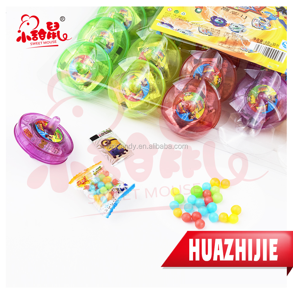 565201610 5G Peg-Top Toy Candy With Fruit Candy And Sticker