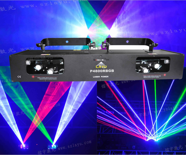 DJ disco stage party laser light RBGB 4 head laser 4 fat beam lazer show system for nightclubs