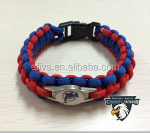 2015 whosale paracord bracelet with charm