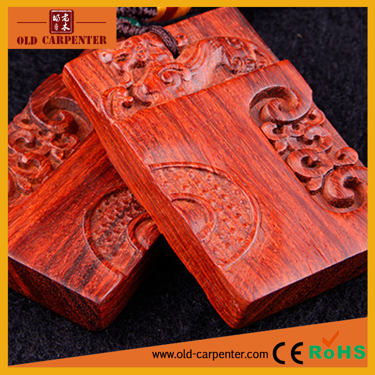 Wholesale Concentric lock carving car hanging wood craft