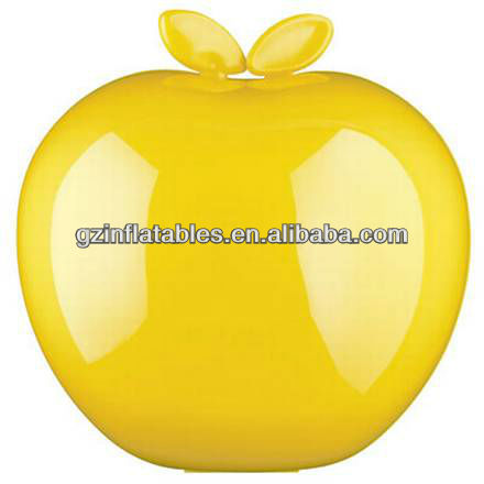 yellow apple inflatable for Christmas Eve