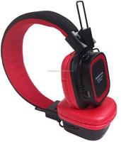 2017 New design wireless bluetooth headphones with TF card, FM radio headphones