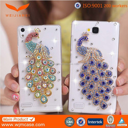 New Crystal case for huawei ascend p7, pc back cover