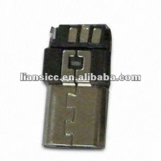 Micro USB 5P Male B Type Solder Connector