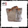 Hot selling large capacity recycled cotton makeup bag
